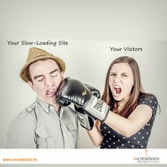 Importance of #website loading time, explained in one fun #scenario. Visit: http://www.vcreations.in/online-marketing/  #sales #conversions #visitors #NoMore #Loading