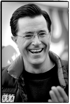 Stephen Colbert - 'nuf said.  Runs the Colbert Pac ha....