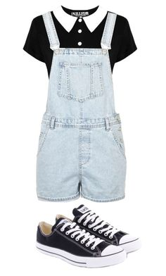 """""""A simple day"""" by aomo ❤ liked on Polyvore featuring Converse and Topshop"""