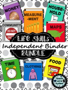 Life Skills Independent Work Task Binders ... by Teach Love Autism | Teachers Pay Teachers