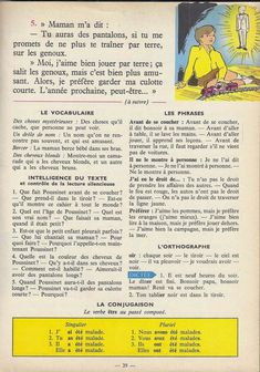 Manuels anciens: Tranchart, Levert, Rognoni, Bien lire et comprendre Cours élémentaire (1963) : grandes images French Learning Books, Teaching French, English Story Books, French Grammar, French Lessons, Lus, Learn French, Storytelling, Read And Write