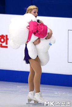Gracie Gold(USA) and the bear : Four Continents Figure Skating Championships 2015