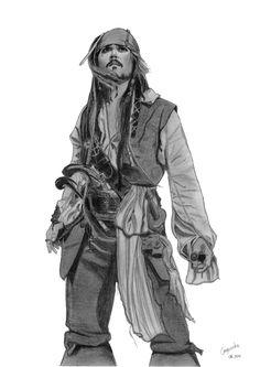 "Jack Sparrow (Johnny Depp) ""Pirates of the Caribbean on Stranger Tides""  http://elodie50a.deviantart.com/"