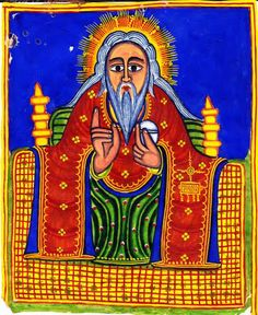 Ethiopian icon of #God the Father. #icons #art #sacred art
