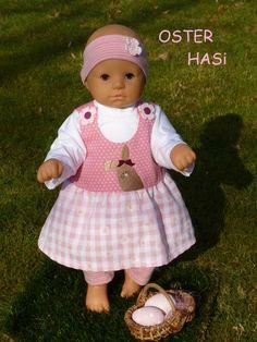 """Puppenkleidung - """"OsterHasi"""" 4tlg Set Gr. 45-50cm - ein Designerstück von handgeschick bei DaWanda"""