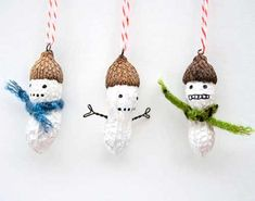 Items similar to 3 Mini Christmas Ornaments - funny painted snowman peanuts on Etsy Mini Christmas Ornaments, Xmas Baubles, Peanuts Christmas, Snowman Ornaments, Christmas Snowman, Christmas Time, Christmas Crafts, Christmas Decorations, Holiday Decor