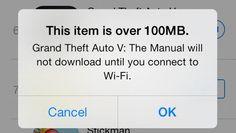 Con la llegada de iOS 7, Apple incrementa el límite de descargas de aplicaciones de la App Store a 100 MB cuando se esté conectado a la red celular (3G/4G LTE).