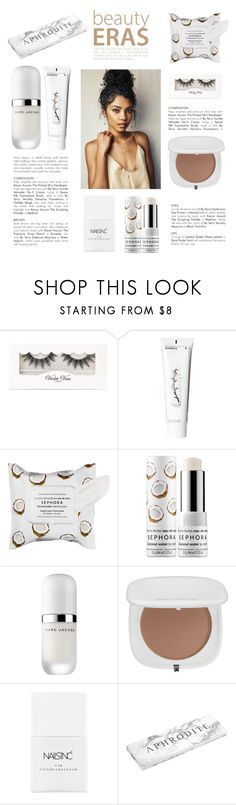 """""""Untitled #579"""" by tenindvr ❤ liked on Polyvore featuring beauty, Violet Voss, Korres, Sephora Collection, Marc Jacobs and Nails Inc."""