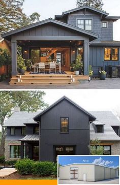 5 Ways a Metal Building Is Better.The Ten Secrets About Metal Buildings Only A Handful Of People Know. 5 Ways a Metal Building Is Better.The Ten Secrets About Metal Buildings Only A Handful Of People Know. Carport Modern, Back Porch Designs, Plans Architecture, Modern Farmhouse Exterior, Dream House Exterior, Metal Buildings, House Goals, Looks Cool, My New Room