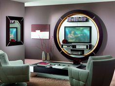 Mobili cortezari ~ Mobile tv sospeso in legno con libreria greta cortezari tv
