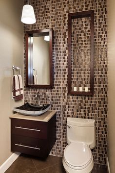 Guest bathroom - contemporary - powder room - other metro - KuDa Photography