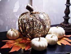 Dollar Store Illuminated Twine Pumpkin | Knock Off Decor | Bloglovin'