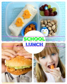 School lunches can be fun, tasty and nutritious - all at the same time!