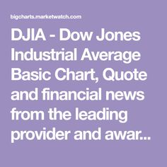Dow Quote Dow Jones  Stocks  Pinterest