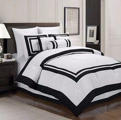 Chezmoi-Collection-Caprice-7-Piece-White-Black-Hotel-Block-Comforter-Set-King