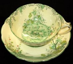 Star Paragon Merrivale Cream Yellow Wide Tea Cup and Saucer | eBay