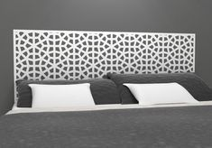 Moroccan Style Headboard Decal  - Vinyl wall sticker decal - Moroccan Influence Geometric Pattern