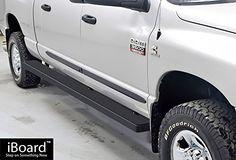 Wheel to Wheel Running Boards Black Custom Fit 2009-2017 Ram 1500 Crew Cab Pickup 5.5ft Short Bed & 2010-2017 Ram 2500/3500 (Nerf Bars | Side Steps | Side Bars)