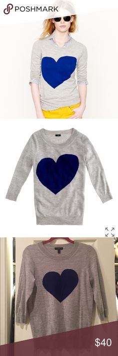 Tippi heart sweater Never worn, perfect condition. J. Crew Sweaters