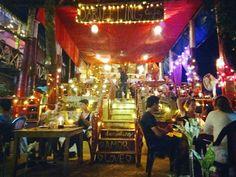 """Night life is always awesome.!.  """"Darjeeling cafe """" (varkala, thiruvananthapuram)"""