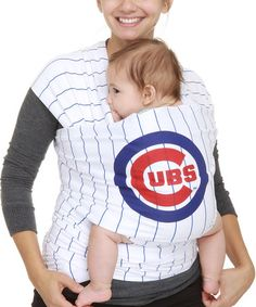 Look what I found on #zulily! Chicago Cubs White Stripe Moby Wrap #zulilyfinds
