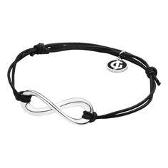 Infinity bracelet. Sterling and cotton by Regitze Overgaard for Georg Jensen. *wish*