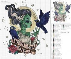Thrilling Designing Your Own Cross Stitch Embroidery Patterns Ideas. Exhilarating Designing Your Own Cross Stitch Embroidery Patterns Ideas. Disney Cross Stitch Patterns, Cross Stitch Charts, Cross Stitch Designs, Cross Stitching, Cross Stitch Embroidery, Embroidery Patterns, Halloween Cross Stitches, Le Point, Blackwork