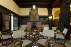 open #fireplace in the lobby