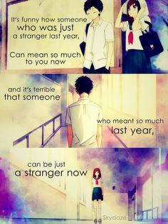 Anime: Ao Haru Ride How many times has the latter happened to me Sad Anime Quotes, Manga Quotes, Sad Quotes, Life Quotes, Moody Quotes, Heartbreak Quotes, Deep Quotes, Futaba Y Kou, Dramas