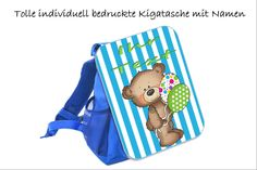 Kindergartentasche, Kindergartenrucksack, mit Namen, individuell, Bär 3 Lunch Box, Bags, Names, Dime Bags, Gifts, Handbags, Bento Box, Totes, Hand Bags