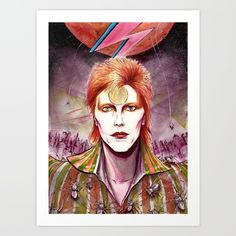 Bowie to Bowie Art Print