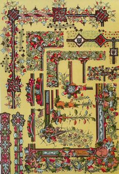 Illustration: Illuminated manuscripts from Owen Jones The Grammar of ...