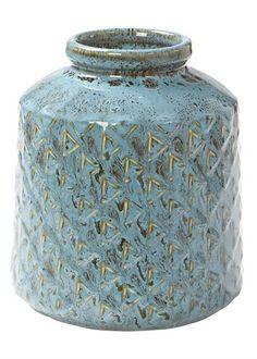 Ceramic Pattern Vase 16cm x 13cm - Matalan