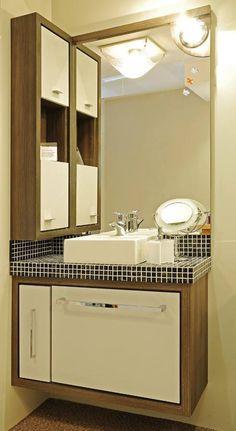 armário lateral no banheiro