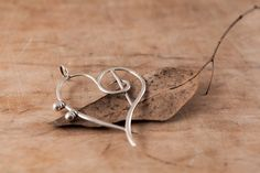 Sterling Silver Filigree Pendant Impious Heart Handmade by kaneh, €91.00