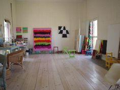 Mary Heilmann Studio Interior, Bridgehampton