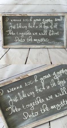 Into the Mystic by Van Morrison Farmhouse Style Sign, Into the Mystic Van Morrison, Rustic Sign Custom Sign Hand Painted Sign, Newlywed Bedroom Wall Art, Romantic Bedroom Decorations, Rock Your Gypsy Soul Quote, Van Morrison Into The Mystic Lyrics Wall Art Sign, Boho Wall Art, Rustic Farmhouse Bedroom Decorations Ideas #affiliatelink