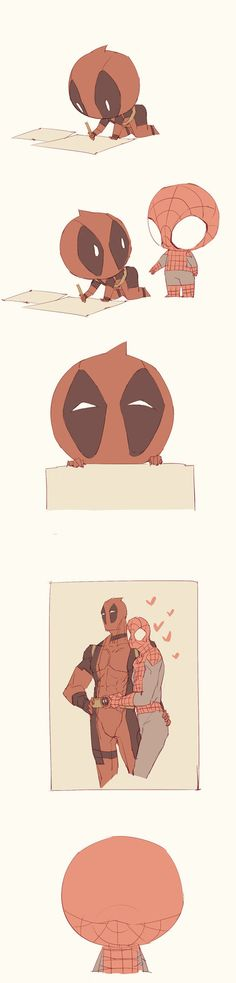 spider man and deadpool cute