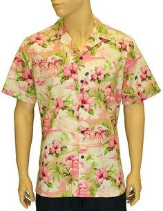 63c1cc7699cc1d Island Flamingo Hawaiian Shirt Hila – Twisted Palms Trading Co. Hawaii Usa,  Hawaiian Print