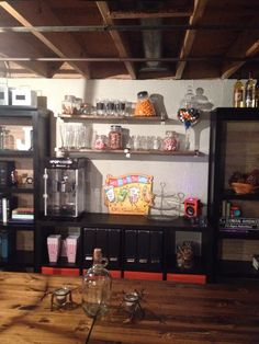 Our Basement Snack Bar Decorating Damsel Our Diy