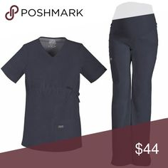 NWT GREY CHEROKEE WORK WEAR MATERNITY SCRVB SET NWT COMPLETE SCRUB SET TOP AND PANTS SIZE XL MATERNITY Cherokee Tops