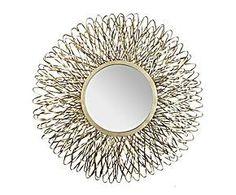Espejo redondo en metal – dorado