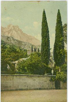 Ай-Петри. Вид со двора Воронцовского дворца в Алупке