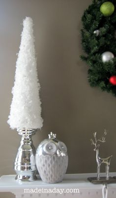 http://madeinaday.com/2011/12/07/simple-snow-garland-trees/