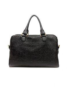 Zara fekete műbőr férfi táska Bowling Bags 97fe3ade2b