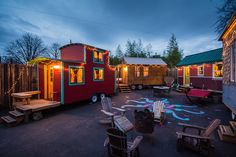 Want to experience the small space life? Take a wee home vacation at Caravan, America's first tiny house hotel located in Portland, Oregon. How charming!