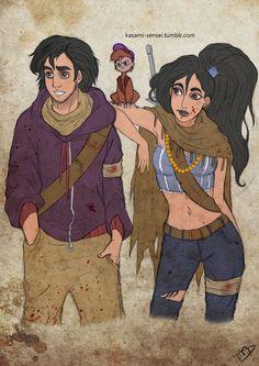 Les personnages des films de Disney version The Walking Dead #twd #disney #princessesdisney