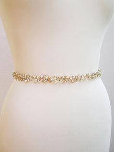 Custom order for AndreaCrystal wedding belt by SabinaKWdesign