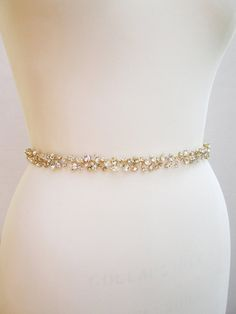 Custom order for AndreaCrystal wedding belt by SabinaKWdesign