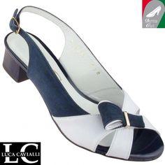 Luca Cavialli női bőr szandál 3487 fehér kék 5f6fdfbade
